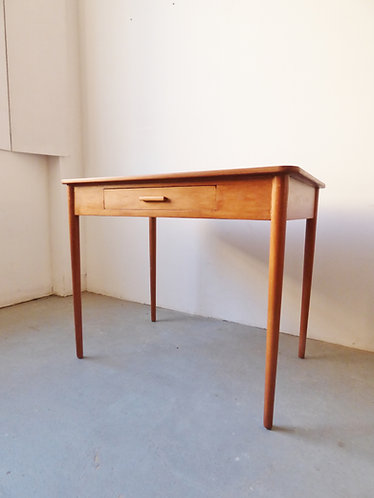 Small vintage teak and beech desk