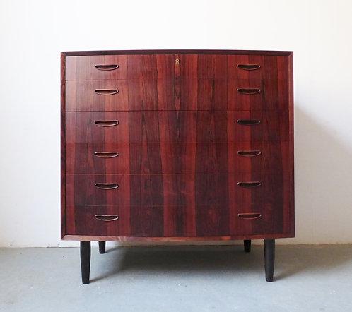 Mid-century Danish rosewood tallboy chest