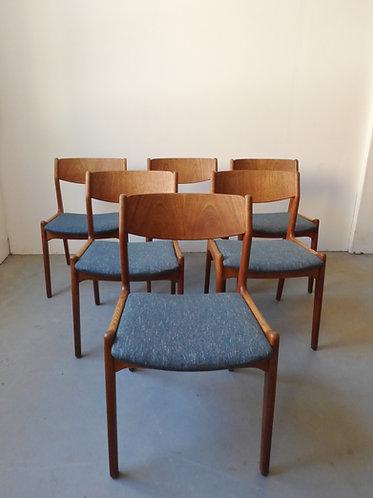 1960s Danish dining chairs, Sorø Stolefabrik