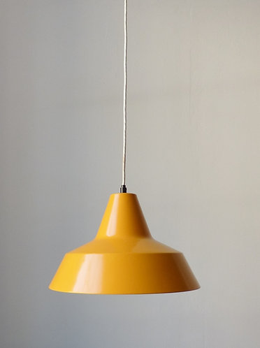 Vintage yellow enamel pendants by Nordisk Solar