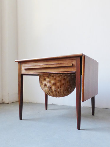 Mid-century rosewood sewing table by Johannes Andersen for CFC Silkeborg