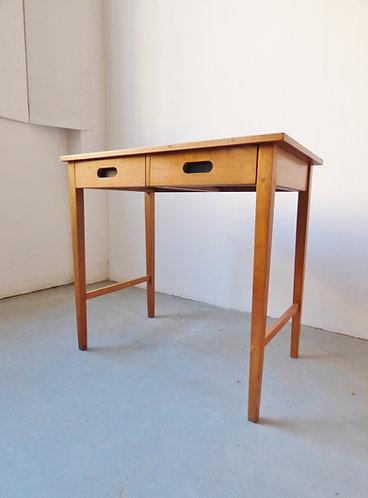 1950s oak desk / console table