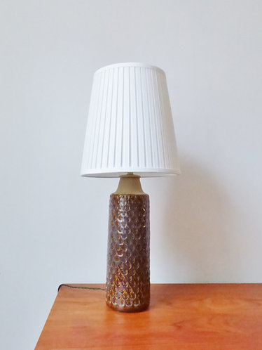 Tall ceramic table lamp by Søholm
