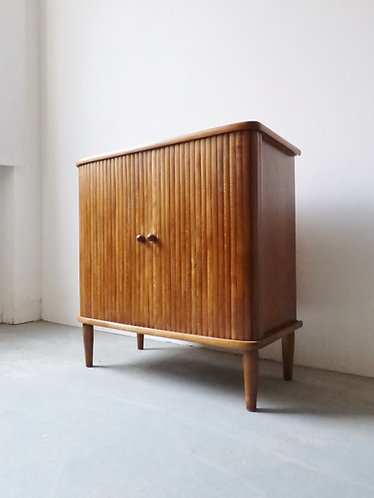 1950s Danish cabinet with tambour doors