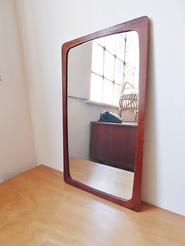 1960s Danish teak mirror