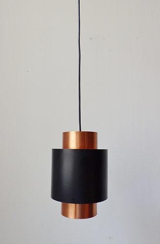 Tunika copper and black pendant light by Jo Hammerborg
