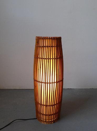 Mid-century bamboo floor lamp