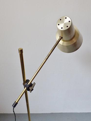 1960s Danish brass standard lamp