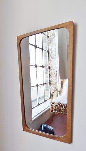 1960s Danish oak mirror