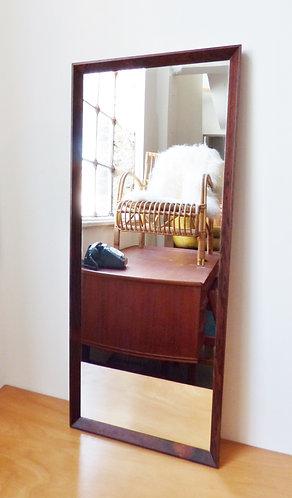 1960s Danish rosewood mirror medium size