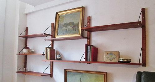 Danish teak shelving system -1960s