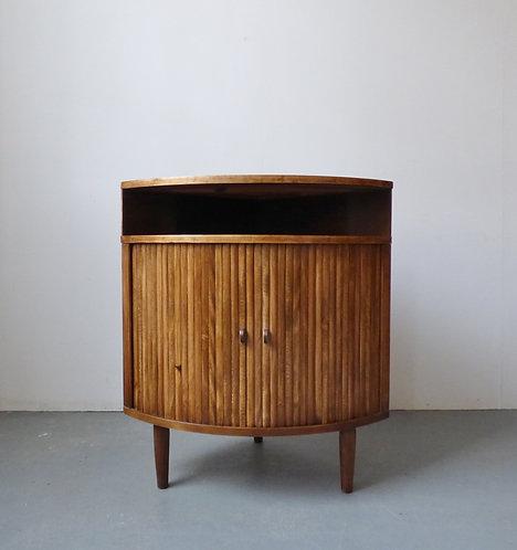 1950s Danish tambour cabinet