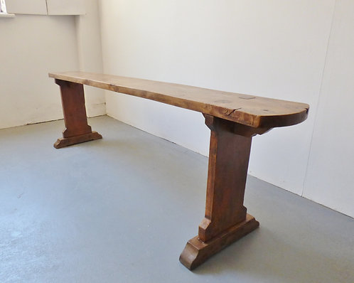 French elm wood church bench - 2 available