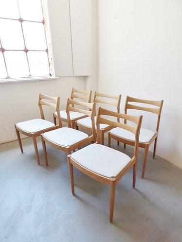 Set of 6 Danish oak dining chairs by Vamo -1960s