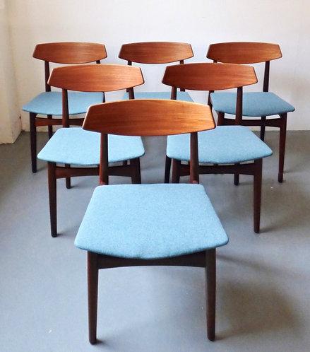 Mid-century Danish dining chairs - set of 6