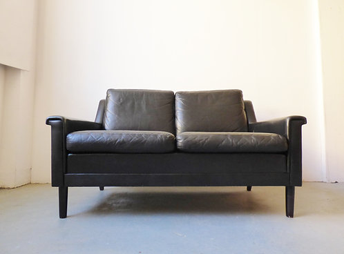 Mid-century Danish leather sofa
