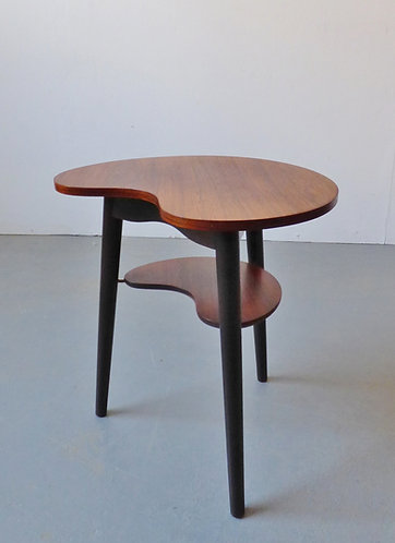 Kidney-shaped rosewood table 1950s