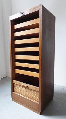 1930s Danish tambour filing cabinet