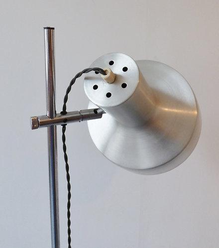 1960s Danish aluminium floor lamp