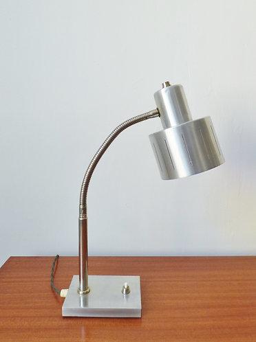 1960s Danish aluminium desk lamp