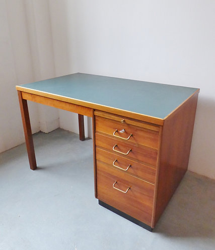 Vintage Danish industrial post office desk