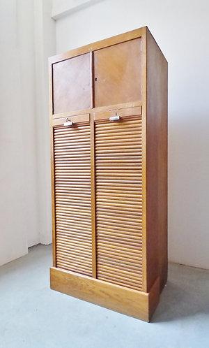 1930s Danish oak filing haberdashery cabinet