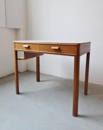 1950s Danish beech writing desk