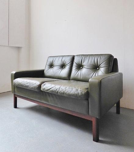 Danish leather 2 seater