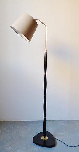 1950s Danish black standard lamp