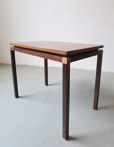1970s Danish rosewood and copper side table