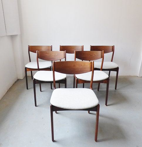 Set of 6 Danish rosewood dining chairs - 1960s