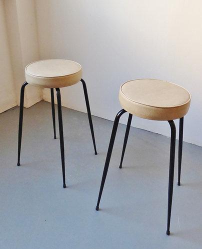 Pair of 1950s bar stools