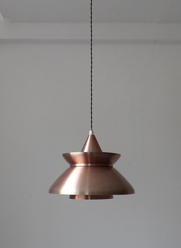1960s Danish copper pendant light