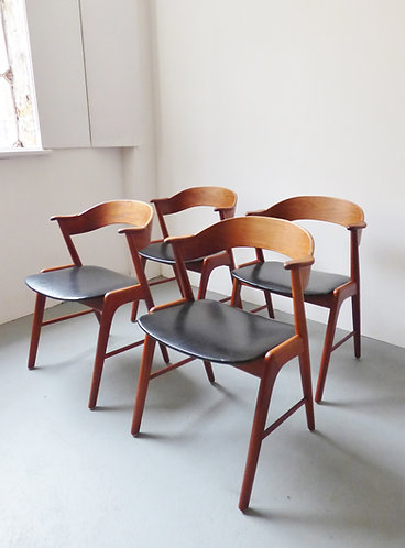 Kai Kristiansen dining chairs set of 4