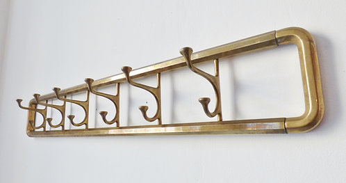 Vintage brass coat rack