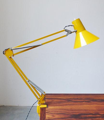 Vintage Danish yellow angle poise desk lamp