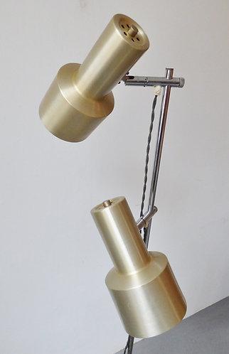 Mid-century aluminium floor lamp