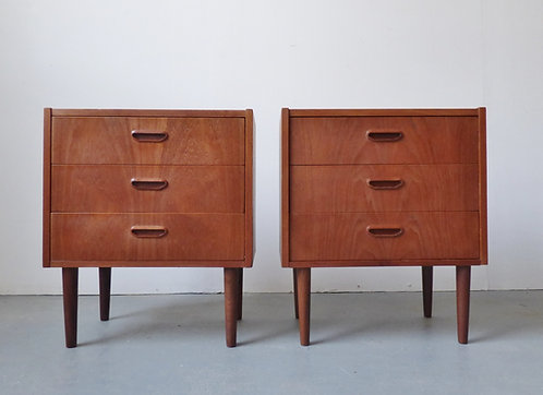 Pair of mid-century Danish bedside chests