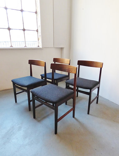 Set of 4 Danish rosewood dining chairs