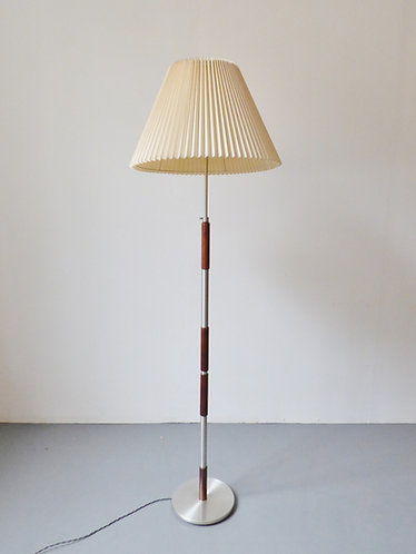 Mid-century Danish rosewood and chrome standard lamp