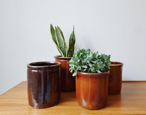 Vintage ceramic plant pot
