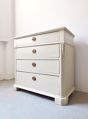 Vintage painted Scandinavian chest of drawers