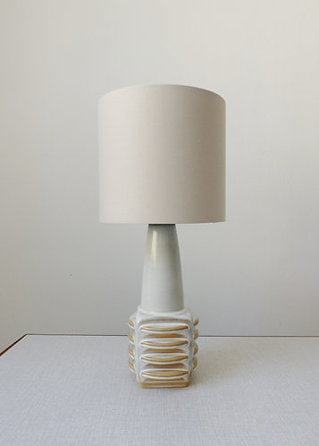 1960s ceramic table lamp by Einar Johansen for Søholm