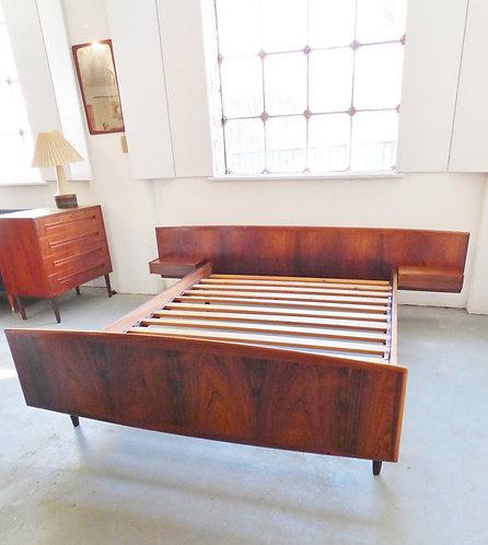 Mid-century Danish rosewood bed