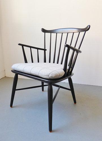1950s Danish black arm chair by Farstrup