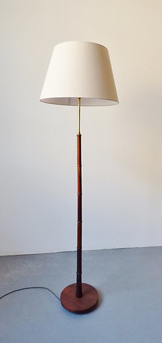 Mid-century rosewood standard lamp