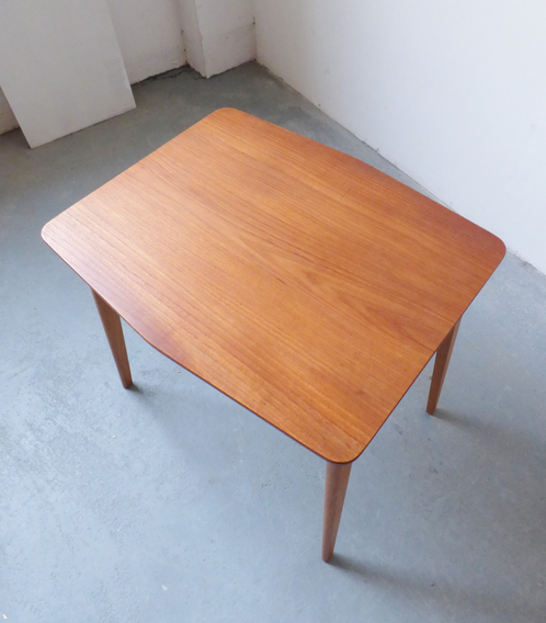 Small danish teak and oak side table archive furniture vintage and mid century furniture and