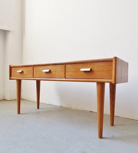 1950s Danish low oak sideboard