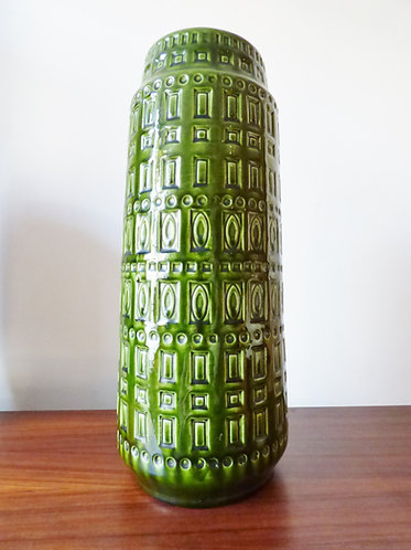 Large 1970s green West German vase