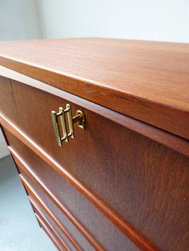 1960s Danish chest of 6 drawers